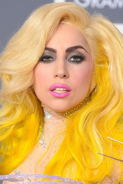Lady Gaga at the 52nd Annual GRAMMY Awards in California.